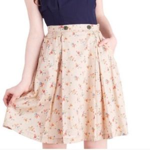 Anthropologie Comme Toi Floral Skirt